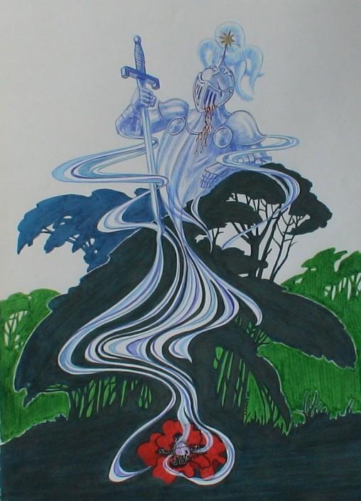 Llàpis de color i retoladors sobre paper (46x34). Propietat de l'autor.