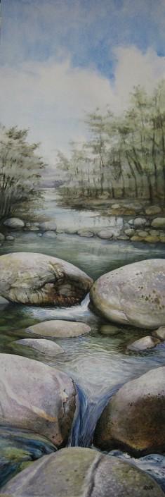 Aquarel·la sobre paper (90x30). Propietat de Alberto Santana.