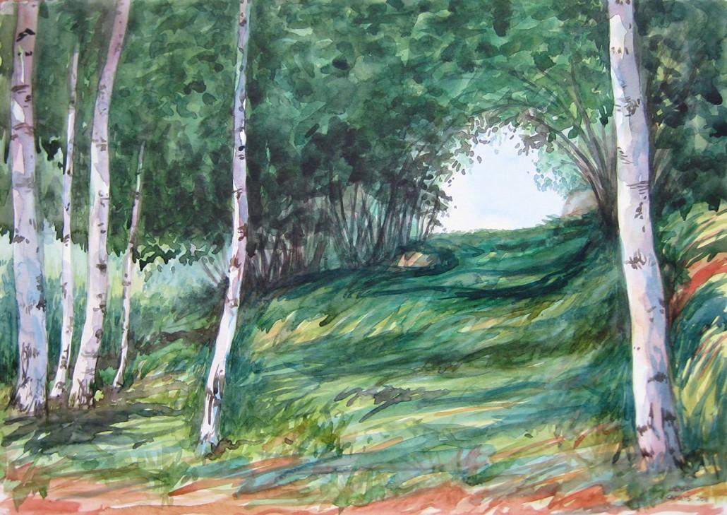 Aquarel·la sobre paper (36x51). Propietat de Julio García-Ribes.