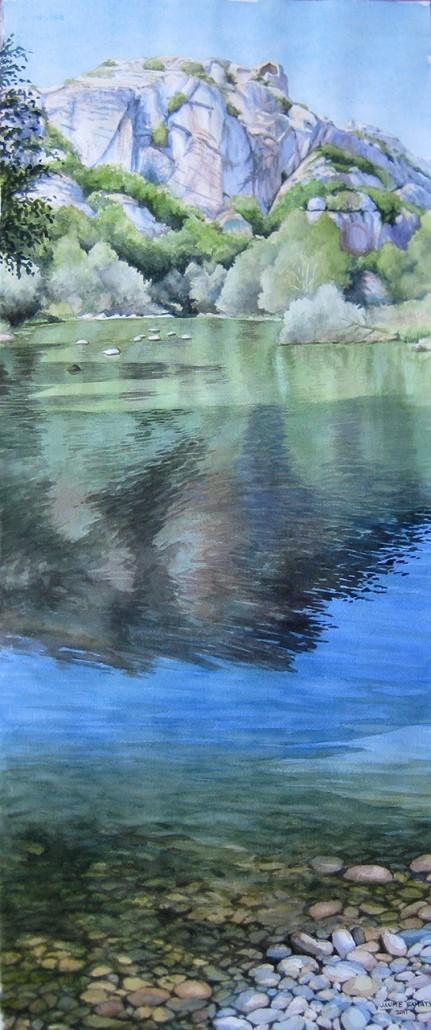Aquarel·la sobre paper (76x32). Propietat Col·lecció Artesa.