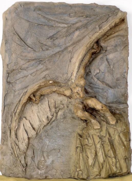 Relleu de terracuita patinada (35x24). Propietat de Xavier Escribano.