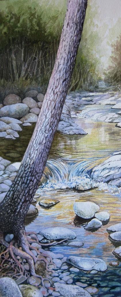 Aquarel·la sobre paper (51x21). Propietat de Joan Estrada.