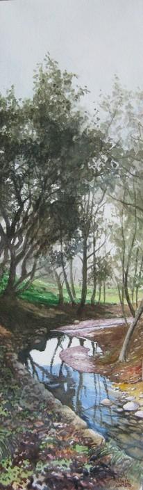 Aquarel·la sobre paper (51x15). Propiedad de Tomàs Cortada.