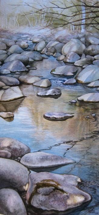 Aquarel·la sobre paper (51x24). Propietat de Fernando Hinojo.