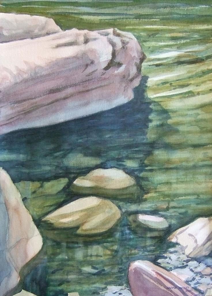 Aquarel·la sobre paper (51x36). Propietat de Srs. Andrés - Bach.