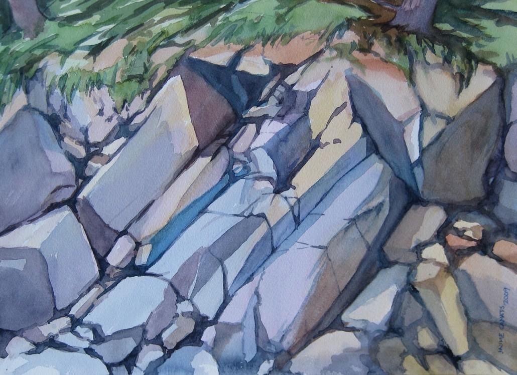 Aquarel·la sobre paper (26x36). Propietat de Neus Mariné.