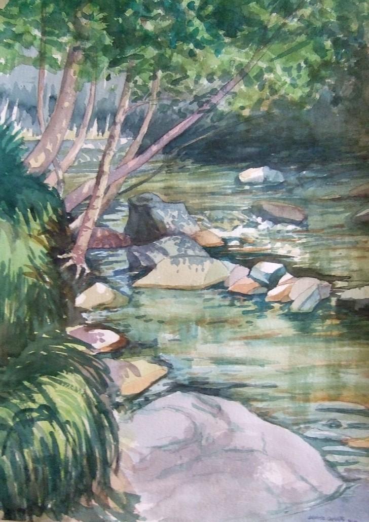 Aquarel·la sobre paper (51x36). Propietat de Centre Residencial Montseny.