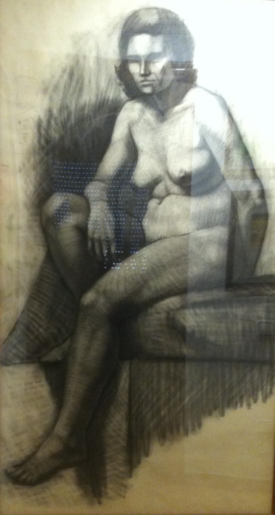 Dibuix a carbonet sobre paper (180x100). Propietat de l'autor. Fet a Belles Arts durant la carrera.