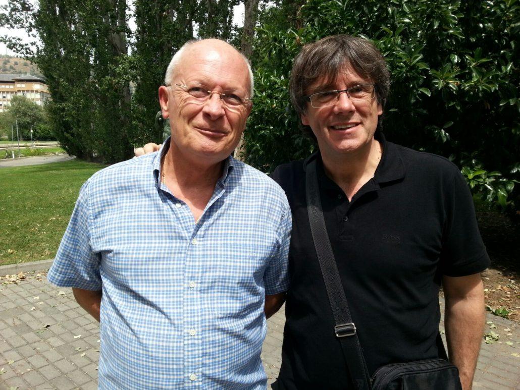 Trobada amb el President Puigdemont al parc del Segre a La Seu d'Urgell el 17/8/16.