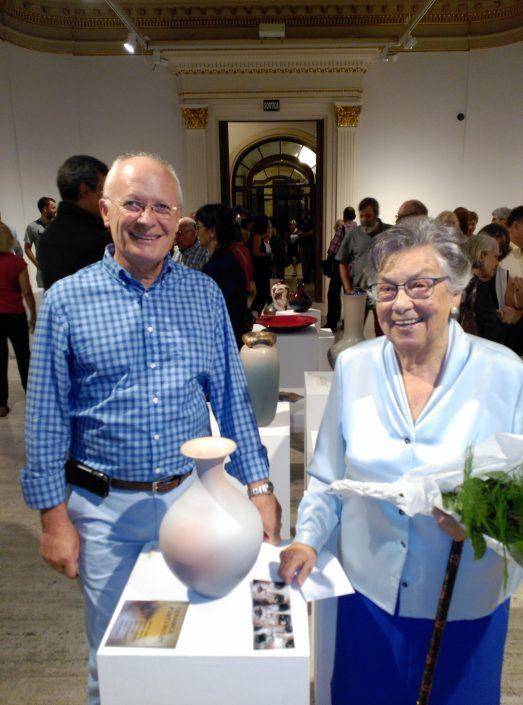 El dia de la inauguració de l'exposició de la ceramista Neus Segrià al Centre de Lectura de Reus el 23/9/16.