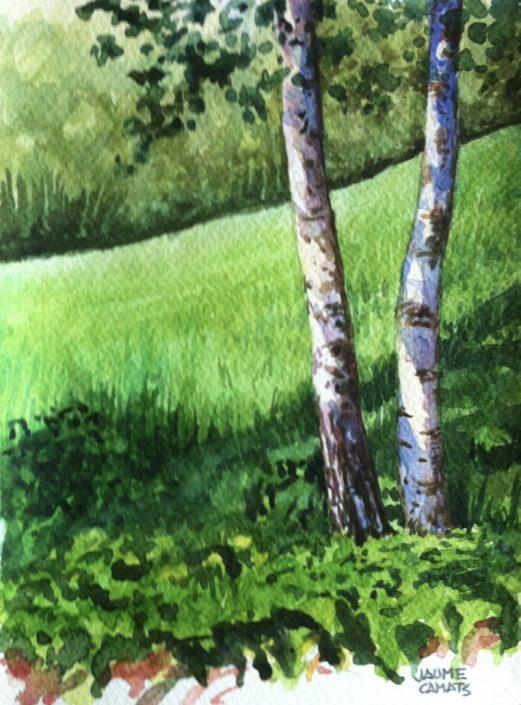 Aquarel·la sobre paper (19x14). Propietat de Josep Mª Gibert.
