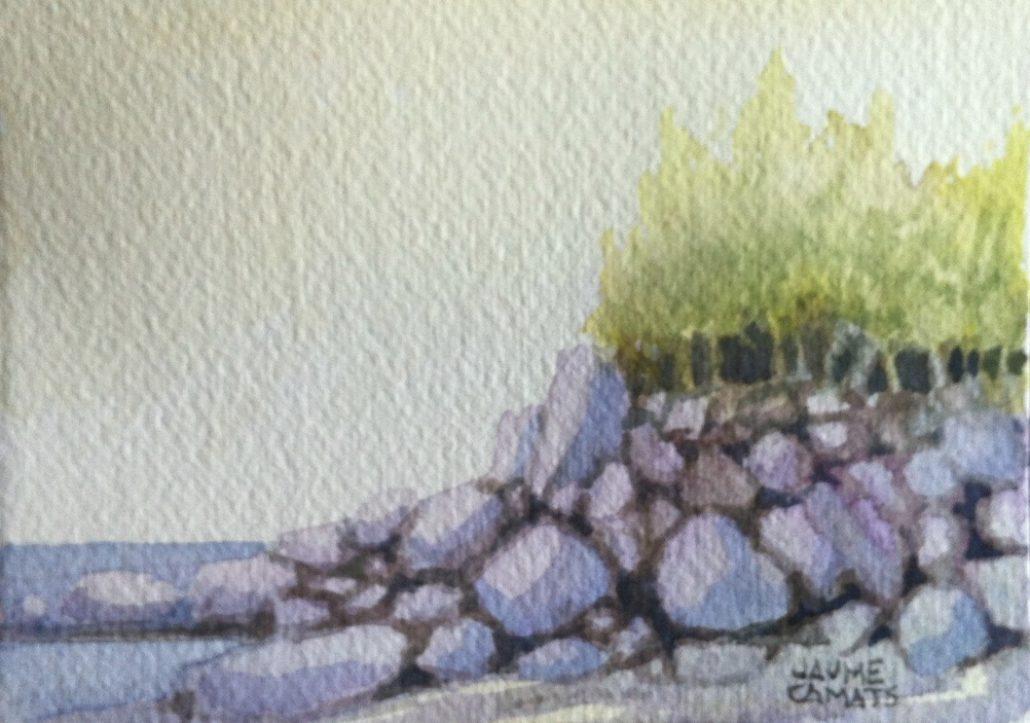 Aquarel·la sobre paper (7x10). Propietat de Juan Carlos Lucea.