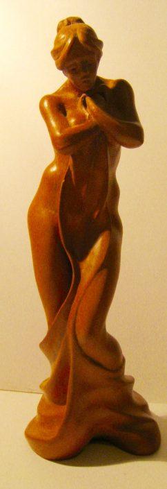 Terracuita patinada amb cera. (32x11x10).