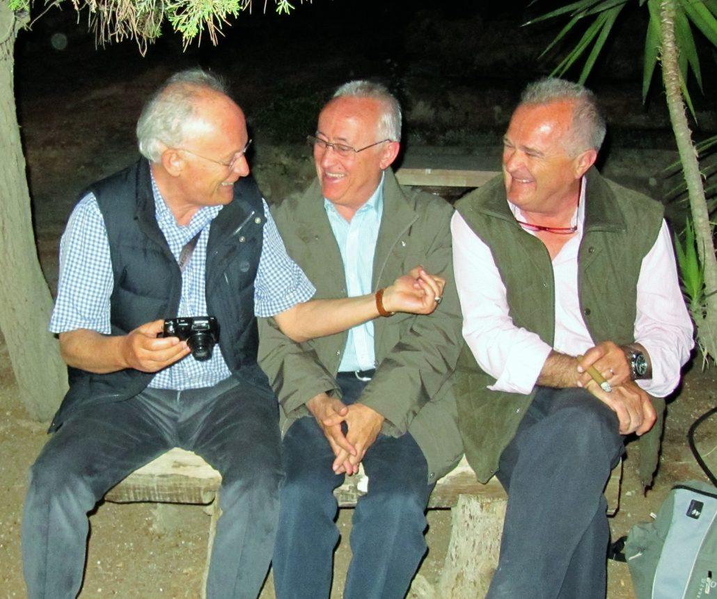 Amb José Fernando Hinojo i Joan Estrada a Jerusalem a l'abril del 2015.
