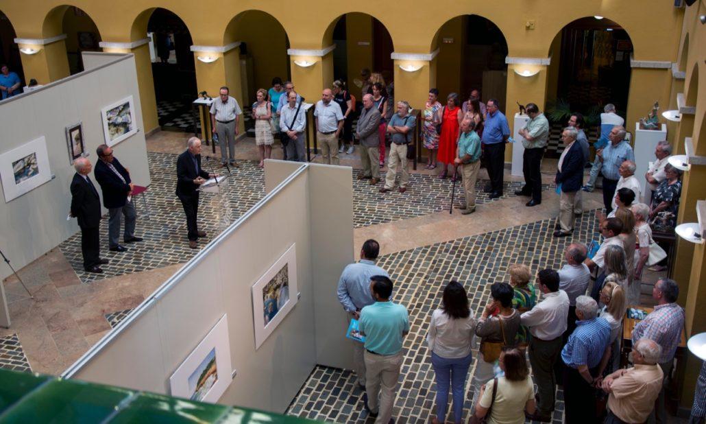 """Inauguració de la exposició """"Aigües i moviment"""" a la Diputació de Tarragona el 16-6-17."""