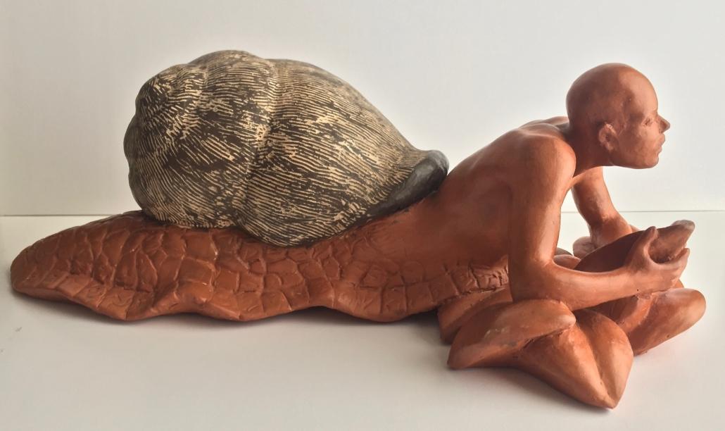 Terracuita amb fang ferruginós i fang negre (14x40x17)