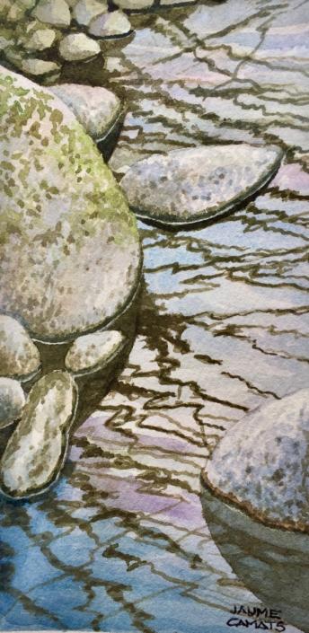 Aquarel·la sobre paper (20x10). Propietat de la familia Roigé-Bernaus.