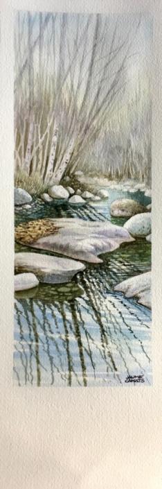 Aquarel·la sobre paper (39x12). Propietat d'Anna Castellà.