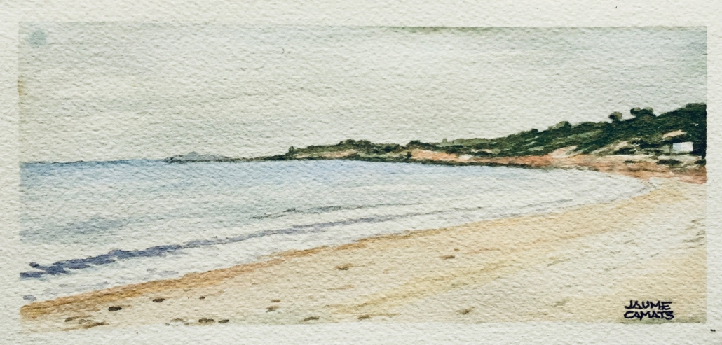 Aquarel·la sobre paper (10x20). Propietat de Juan Carlos Lucea.