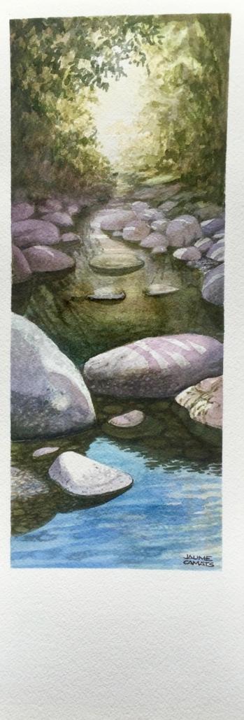 Aquarel·la sobre paper (39x12). Propietat de Xavier Olloqui.