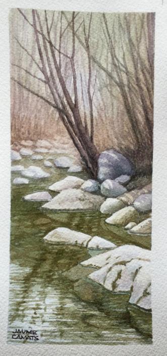 Aquarel·la sobre paper (20x10). Propietat de familia Camats-Malet.