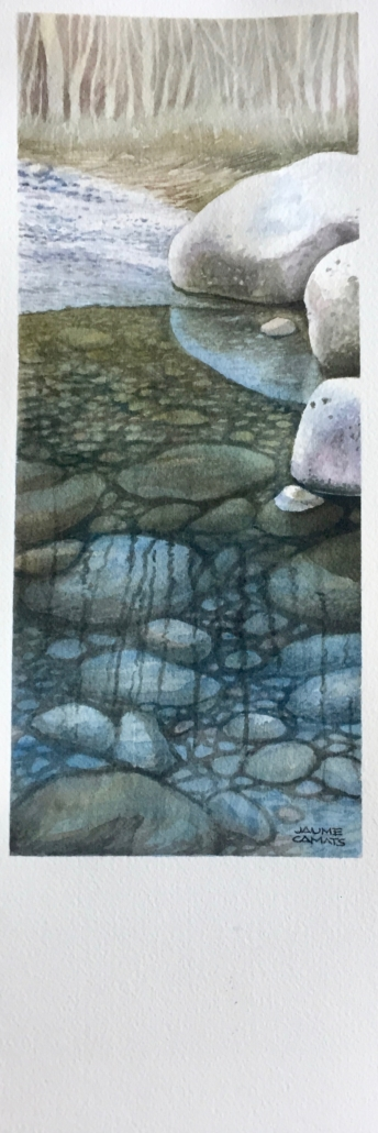 Aquarel·la sobre paper (39x12). Propietat dels Srs. Fontova-Porta.