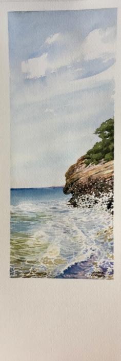 Aquarel·la sobre paper (39x12). Propietat de Neus Mariné.