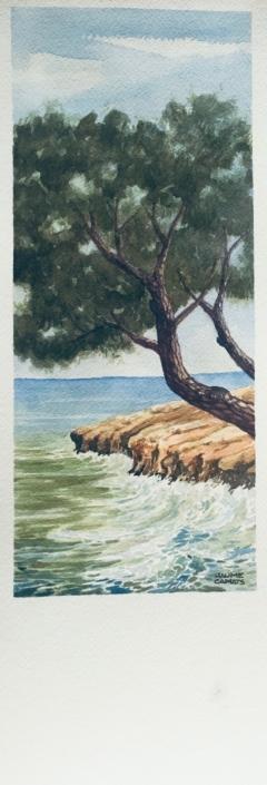 Aquarel·la sobre paper (39x12). Propietat de Montse Roca.