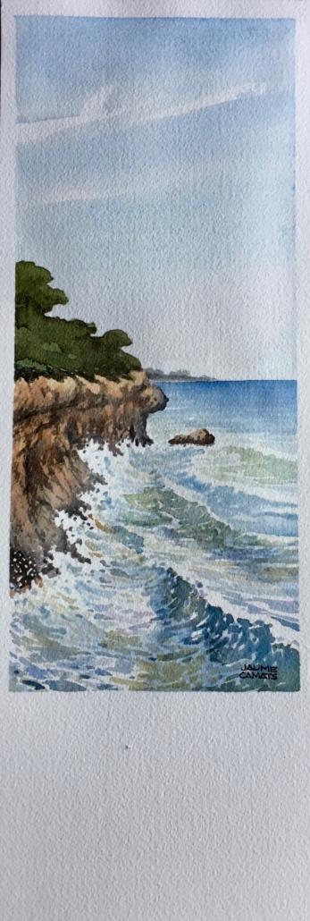 Aquarel·la sobre paper (39x12). Propietat de Margarita Brenchat.