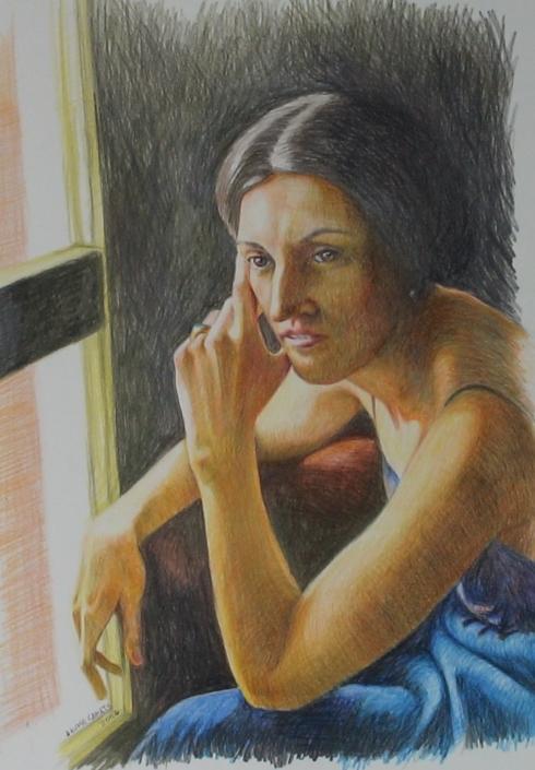 Llàpis de color sobre paper (XXXX). Propietat d'Ana Sánchez.