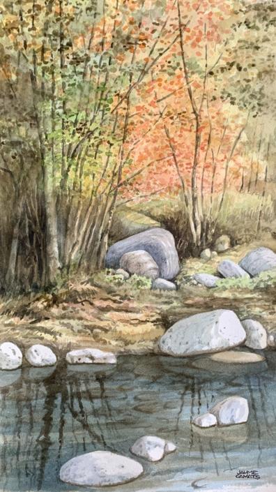Aquarel·la sobre paper (52x30). Propietat Joan López Masoliver.