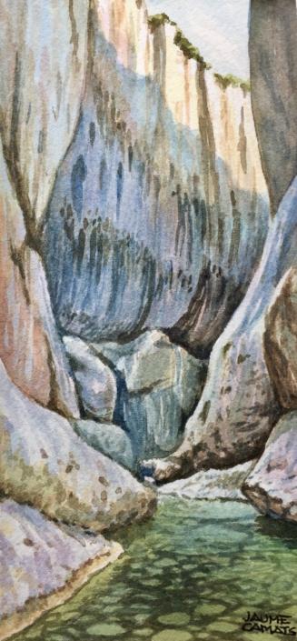 Aquarel·la sobre paper (20x10). Propietat Srs. Vilaró - Duràn.
