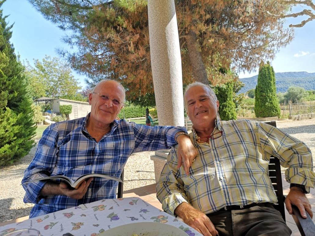 Amb l'amic Joan Estrada a casa seva (9/9/20).