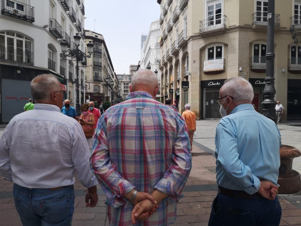 Amb Joan Estrada i José Fernando Hinojo a Saragossa al juliol de 2021..