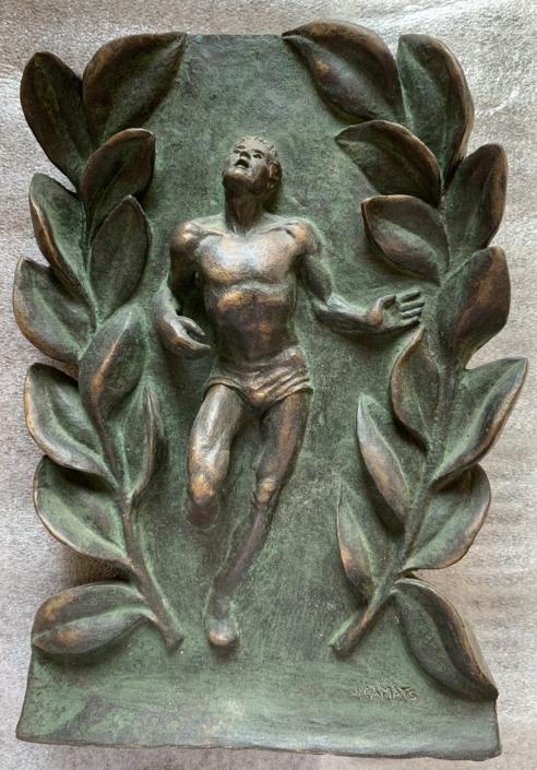 Bronze (xxxxx). Original de terracuita. Propietat de la Escola Deportiva BRAFA de Barcelona.